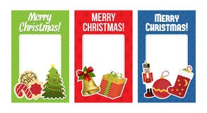 Accumulazione delle cartoline di Natale con spazio per testo Immagini Stock Libere da Diritti