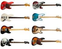 Accumulazione delle chitarre basse Fotografia Stock Libera da Diritti