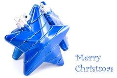 Accumulazione delle decorazioni blu Fotografie Stock Libere da Diritti