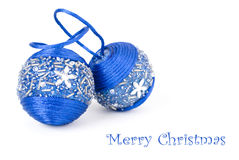 Accumulazione delle decorazioni blu Immagine Stock Libera da Diritti