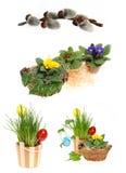 Accumulazione delle decorazioni di Pasqua Immagine Stock