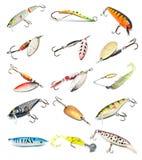 Accumulazione delle esche di pesca Fotografia Stock