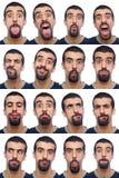 Accumulazione delle espressioni Fotografia Stock Libera da Diritti