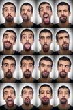 Accumulazione delle espressioni Fotografie Stock Libere da Diritti