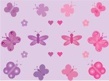 Accumulazione delle farfalle illustrazione vettoriale