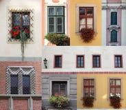 Accumulazione delle finestre Fotografia Stock
