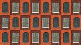 Accumulazione delle finestre verdi Fotografia Stock
