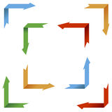 Accumulazione delle frecce di prospettiva illustrazione vettoriale