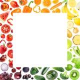 Accumulazione delle frutta e delle verdure Fotografia Stock