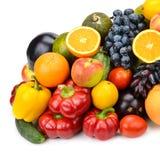 Accumulazione delle frutta e delle verdure Fotografie Stock