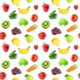 Accumulazione delle frutta e delle verdure Reticolo senza giunte Fotografia Stock