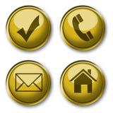 Accumulazione delle icone dell'oro Immagini Stock