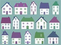 Accumulazione delle icone della casa illustrazione vettoriale