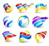Accumulazione delle icone di colore Fotografia Stock Libera da Diritti