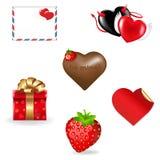 Accumulazione delle icone di giorno del biglietto di S. Valentino Fotografia Stock Libera da Diritti