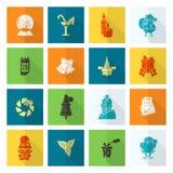 Accumulazione delle icone di inverno e di natale Fotografia Stock Libera da Diritti
