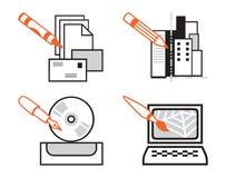 Accumulazione delle icone di Web Fotografia Stock