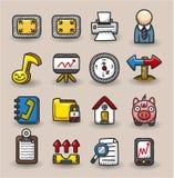 Accumulazione delle icone di Web di tiraggio della mano Fotografia Stock