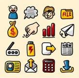 Accumulazione delle icone di Web di tiraggio della mano Fotografia Stock Libera da Diritti
