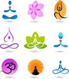 Accumulazione delle icone di zen - illustrazione di vettore Fotografia Stock Libera da Diritti