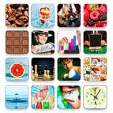 Accumulazione delle icone per i programmi ed i giochi Fotografia Stock