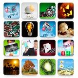 Accumulazione delle icone per i programmi ed i giochi Fotografia Stock Libera da Diritti