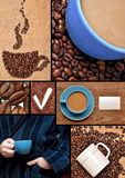 Accumulazione delle immagini con caffè. Immagini Stock