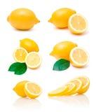 Accumulazione delle immagini del limone Fotografia Stock Libera da Diritti
