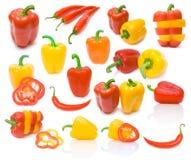 Accumulazione delle immagini della paprica Fotografie Stock