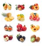 Accumulazione delle immagini mature della frutta Fotografia Stock Libera da Diritti