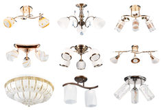 Accumulazione delle lampade. Vista di prospettiva #3 | Isolato Immagini Stock