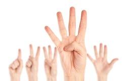 Accumulazione delle mani Fotografia Stock