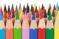 Accumulazione delle matite colorate Fotografia Stock