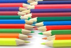 Accumulazione delle matite di colore Fotografia Stock Libera da Diritti