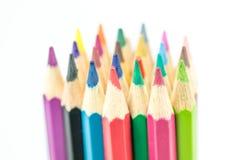 Accumulazione delle matite di colore Fotografie Stock Libere da Diritti