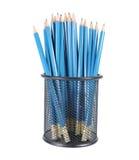 Accumulazione delle matite nel cestino Fotografie Stock Libere da Diritti