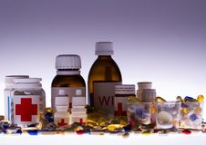 Accumulazione delle medicine Fotografie Stock Libere da Diritti