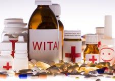 Accumulazione delle medicine Immagine Stock