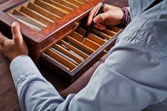 Accumulazione delle penne antiche Fotografie Stock