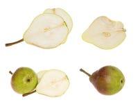 Accumulazione delle pere mature fresche Fotografie Stock Libere da Diritti
