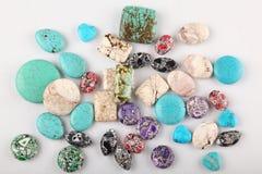 Accumulazione delle pietre preziose del turchese Fotografia Stock