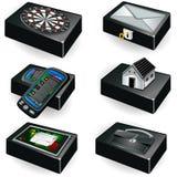 Accumulazione delle scatole nere Fotografia Stock
