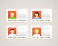Accumulazione delle schede di identificazione Immagini Stock Libere da Diritti