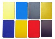 Accumulazione delle schede di plastica variopinte Immagine Stock Libera da Diritti