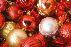 Accumulazione delle sfere di cristmas Fotografia Stock