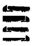 Accumulazione delle siluette del camion Fotografie Stock Libere da Diritti