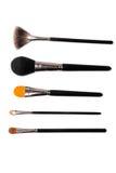 Accumulazione delle spazzole di trucco Fotografie Stock