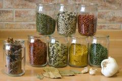 Accumulazione delle spezie Immagini Stock