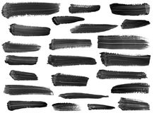 Accumulazione delle striature artistiche della vernice isolate Immagine Stock Libera da Diritti