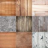 Accumulazione delle strutture di legno Immagine Stock